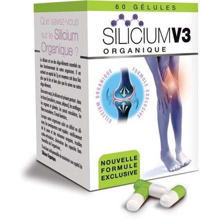 Silicium Organique V3 Gélules pour les Articulations et la Solidité des Os
