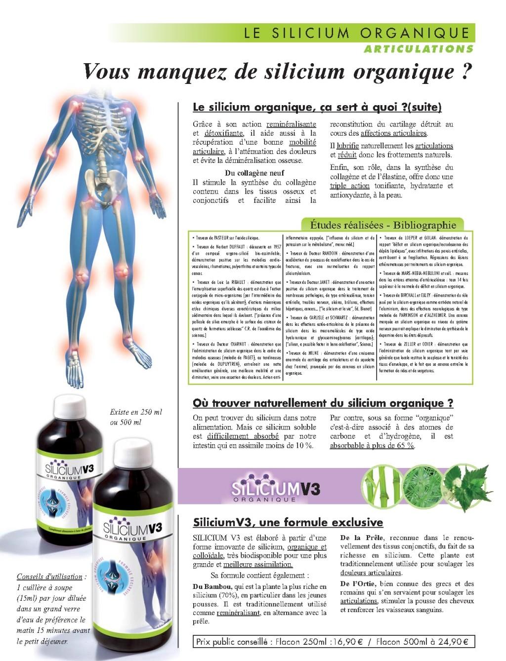 Silicium Organique V3 Solution Buvable pour les