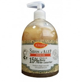 Savon d'Alep Liquide Premium 15% Laurier