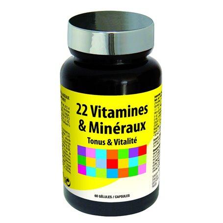 22 Vitamines & Minéraux Vitalité & Défenses Naturelles Ineldea - 1
