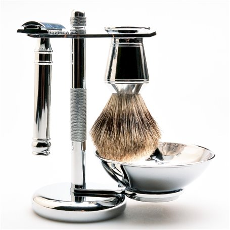 Shaving Stand for Brushes and Safety Razors with Decorative Knurling CZM Cosmetics - 1